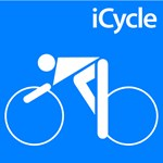 Cycling iCycle Blue Silhouette