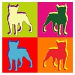 Boston Terrier Silhouette Pop Art
