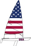 Flag of USA Dinghy Sailing