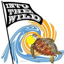 WILD SEA TURTLE DESIGN - MEN'S LIGHT T-SHIRTS
