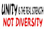 UNITY IS STRENGTH NOT DIVERSITY