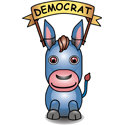 Cute 3D Democrat Donkey