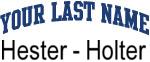 Blue Surname Design Hester - Holter