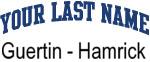 Blue Surname Design Guertin - Hamrick