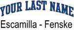 Blue Surname Design Escamilla - Fenske