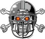 Football Helmet Skull and Crossbones