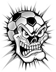 Soccer Ball Skull Head