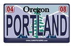 Oregon License Plate - PORTLAND