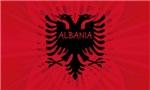 Albanian Flag Artistic