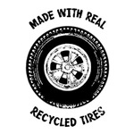 Made with real recycled tires