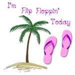 I'm Flip Floppin' Today-Purple