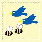 2 Birds, 2 Bees