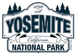 Yosemite National Park Blue Sign