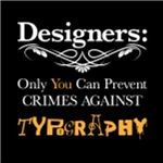 Crimes Against Typography, for black