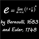 e by Bernoulli and Euler
