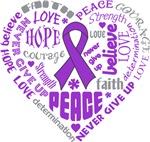 Leiomyosarcoma Heart Words Shirts