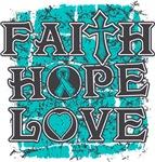Peritoneal Cancer Faith Hope Love Shirts