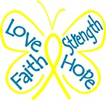 Love Strength Faith Hope Endometriosis Shirts