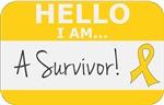 Childhood Cancer Hello I'm A Survivor Shirts