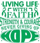 Liver Cancer Living Life With Faith Shirts