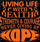 Leukemia Living Life With Faith Shirts