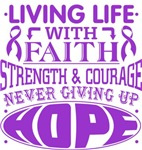 Alzheimers Disease Living Life With Faith Shirts