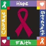 Multiple Myeloma Courage Hope Shirts