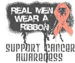 Uterine Cancer Real Men Wear a Ribbon Shirts