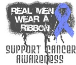 Stomach Cancer Real Men Wear a Ribbon Shirts