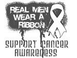 Lung Cancer Real Men Wear a Ribbon Shirts