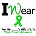 I Wear Green Organ Donor Gift of Life T-Shirts
