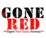 Gone Red Heart Disease Awareness T-Shirts & Gifts