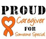 Proud Caregiver Orange Ribbon T-Shirts & Gifts