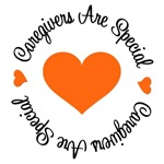 Caregivers Are Special Orange Ribbon T-Shirts