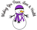 Christmas Snowman Purple Ribbon Cards & Gifts