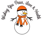 Christmas Snowman Orange Ribbon Cards & Gifts
