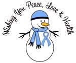 Christmas Snowman Prostate Cancer Cards & Gifts