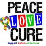Autism Peace Love Cure Shirts, Tees & Gifts