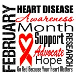 Heart Disease Collage for Awareness Month