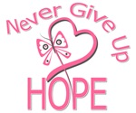 Never Give Up Hope Breast Cancer Shirts
