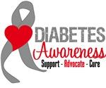 Diabetes Heart Ribbon