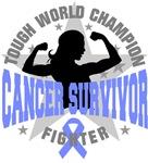 Stomach Cancer Tough Survivor Shirts