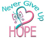Hereditary Breast Cancer Never Give Up Hope Shirts