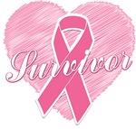 Breast Cancer Survivor Heart Shirts