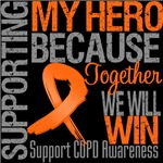 Supporting My Hero COPD Shirts and Gifts