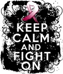 Throat Cancer Keep Calm and Fight On Shirts