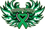 Liver Cancer Heart Awareness Wings Shirts
