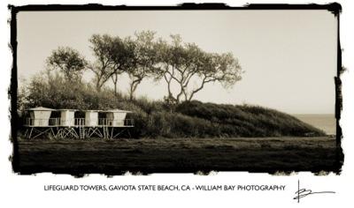 Lifeguard Towers, Gaviota State Beach