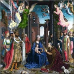 Jan Mabuse /Gossaert: The Adoration of the Kings c