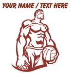 Custom Muscular Volleyball Player